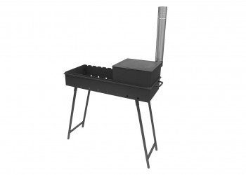 Мангал М90 K с печью под казан 6-9л