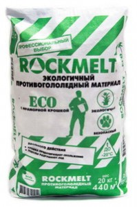 Rockmelt (Рокмелт) ECO c мраморной крошкой, мешок 20кг.
