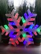 """Новогодняя фигура """"Снежинка"""" 35 светодиодов"""