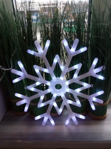 Снежинка диаметр 40 см, многорежимное свечение