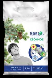 Удобрение TerraSol гранулированное хвойное 2,5 кг.