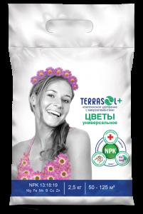 Удобрение TerraSol гранулированное цветы 2,5 кг.