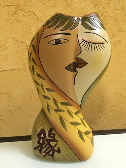 Ваза керамическая оливковая