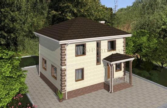Проект удобного двухэтажного дома Rg4924