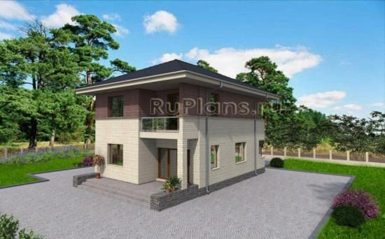 Проект аккуратного двухэтажного дома с гаражом Rg3317