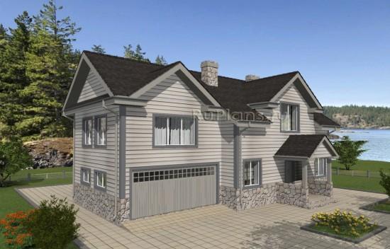 Проект индивидуального одноэтажного жилого дома с мансардой в канадском стиле Rg4992