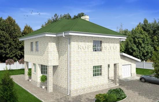 Проект двухэтажного дома с подвалом Rg4907