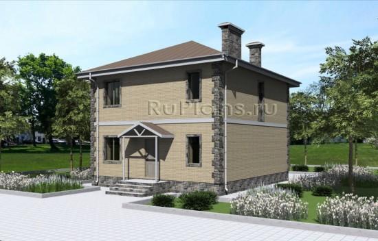 Проект двухэтажного дома Rg4784