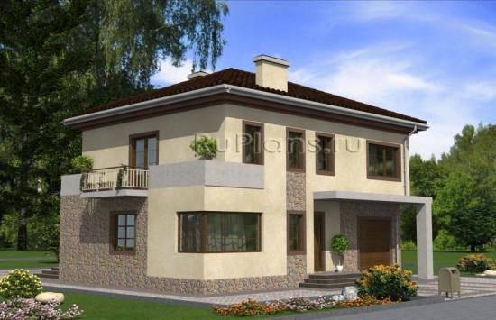 Проект двухэтажного дома с гаражом Rg4852