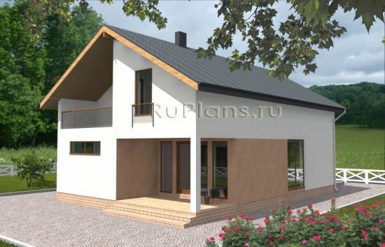Одноэтажный удобный коттедж Rg3566