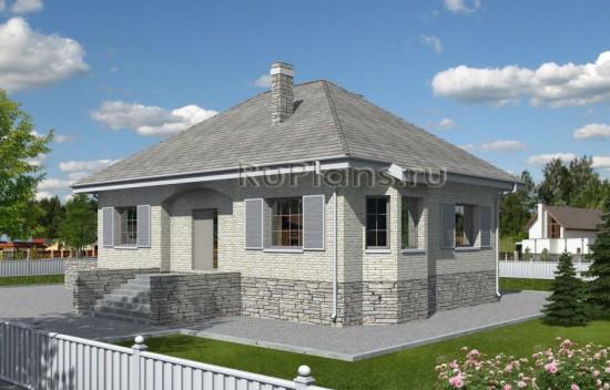 Проект одноэтажного дома с чердаком Rg3897