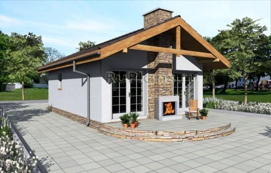 Проект компактного одноэтажного дома Rg3963