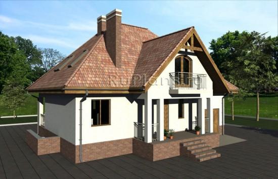 Проект дома с мансардой и подвалом Rg3914