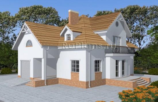 Проект одноэтажного дома с мансардой и подвалом Rg4836