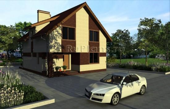 Проект небольшого одноэтажного дома с мансардой Rg3422