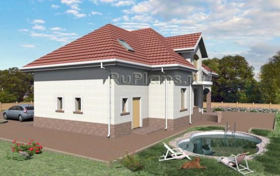 Проект комфортного дома с эркером Rg3707