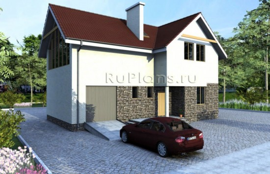 Готовый проект современного уютного дома Rg1596