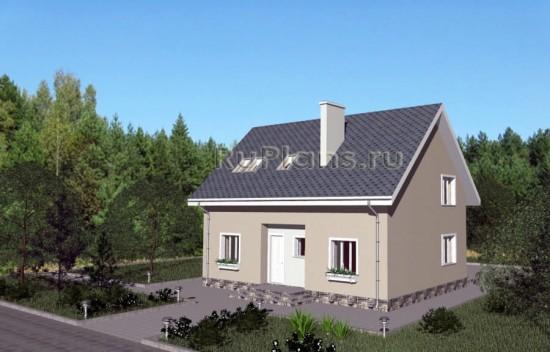 Проект экономного дома с мансардой Rg3841