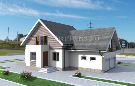 Проект жилого дома с мансардой Rg3828