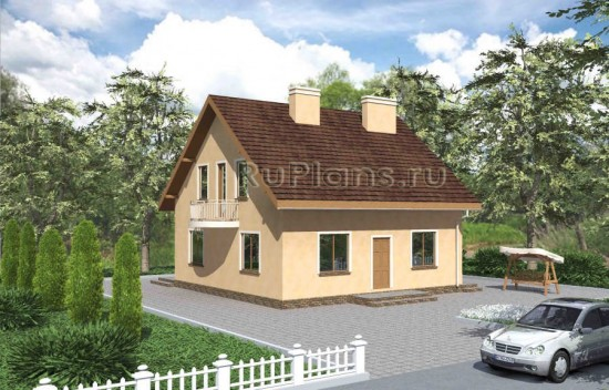 Проект одноэтажного дома с мансардой Rg3434