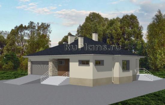 Современный дом из газобетона Rg3659