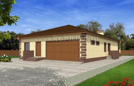 Проект одноэтажного дома с гаражом Rg4825