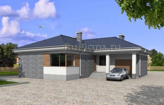 Проект удобного одноэтажного дома Rg3894
