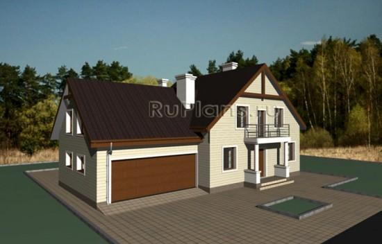 Готовый проект загородного дома Rg3421