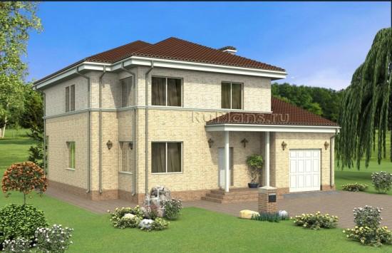 Проект просторного двухэтажного дома Rg4894