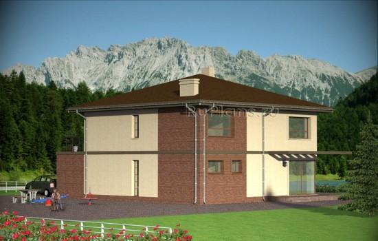 Проект индивидуального  двухэтажного  жилого дома Rg4798