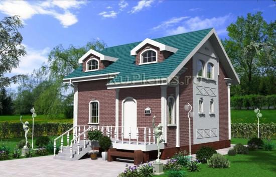 Проект частного дома с мансардой Rg4034