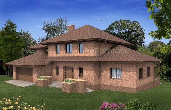 Просторный двухэтажный дом с гаражом и бассейном Rg4936