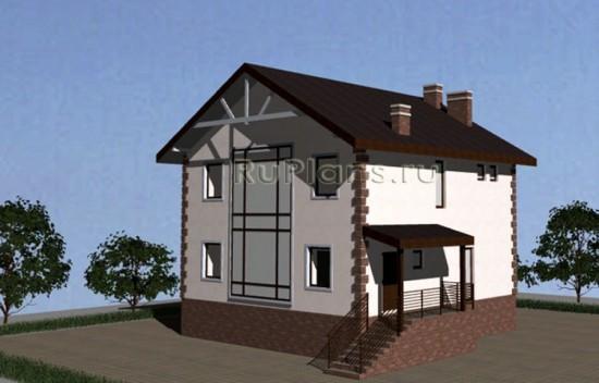 Проект компактного двухэтажного дома Rg3420
