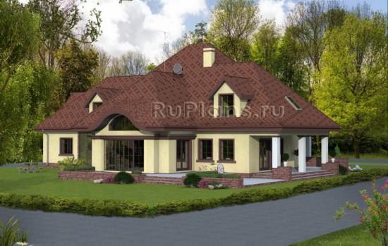 Проект одноэтажного дома с мансардой Rg4800