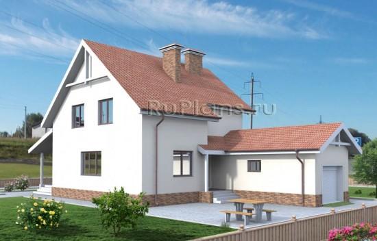 Проект одноэтажного дома с мансардой Rg3824