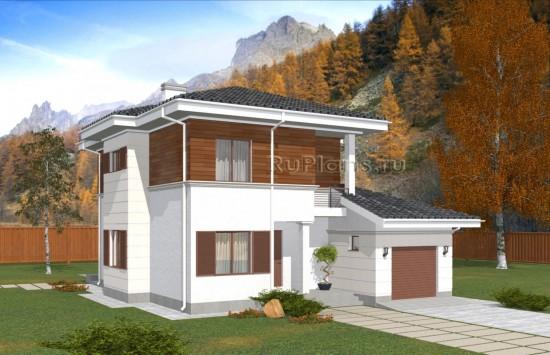 Двухэтажный дом с погребом и гаражом Rg5000