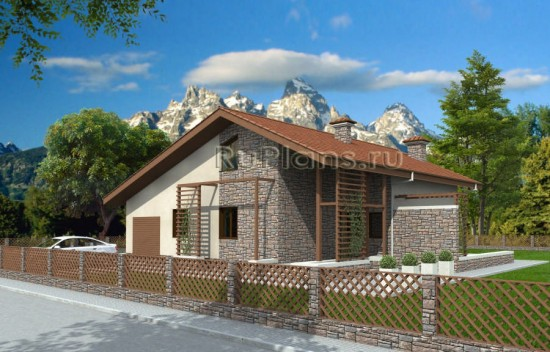 Проект одноквартирного дома с мансардой Rg3887