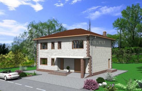 Проект индивидуального двухэтажного  жилого дома с подвалом Rg4006