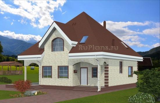 Проект одноэтажного дома с мансардой Rg4914