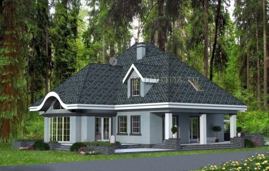Проект индивидуального одноэтажного  жилого дома с мансардой Rg4801