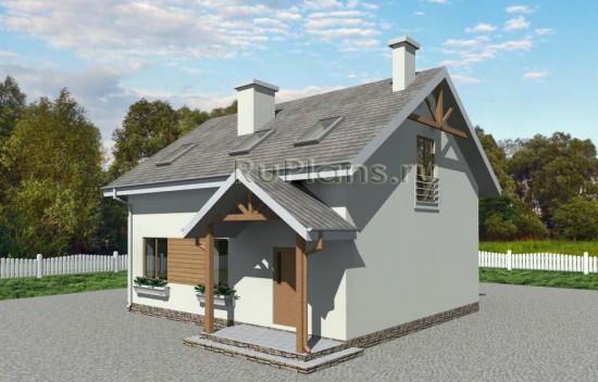 Двухэтажный дом с мансардой Rg3661