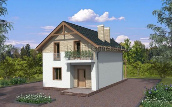 Проект дома с мансардой Rg3903