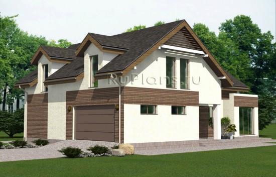 Проект одноэтажного дома с мансардой и подвалом Rg4830