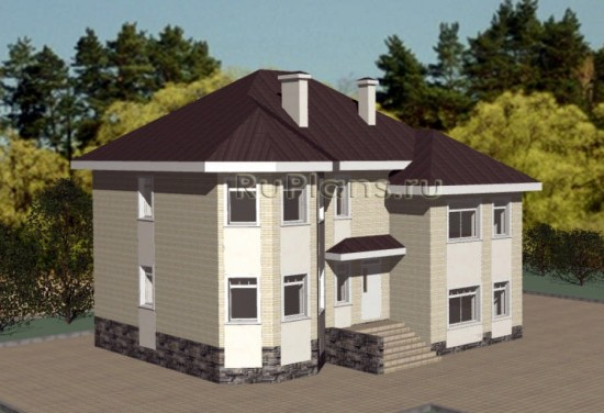 Проект просторного двухэтажного коттеджа Rg3344