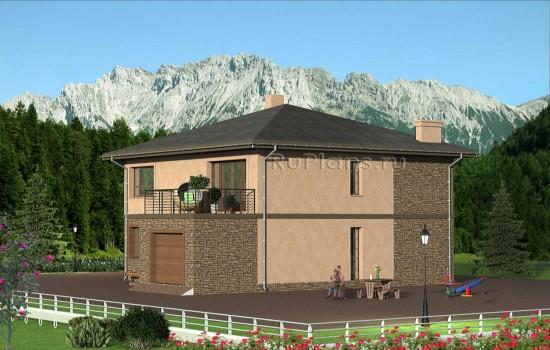 Проект индивидуального  двухэтажного  жилого дома Rg4799