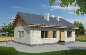 Проект уютного одноэтажного дома Rg3908