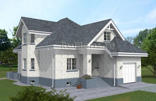Проект одноэтажного дома с мансардой и подвалом Rg4828