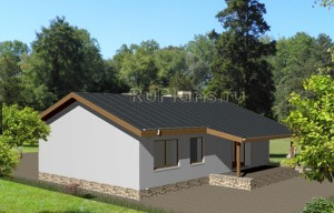 Проект современного одноэтажного коттеджа Rg3705