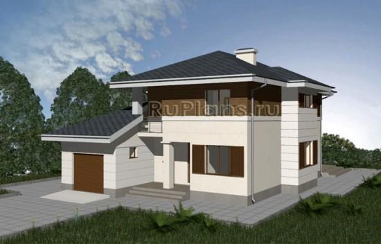 Проект двухэтажного дома с эркером Rg3363