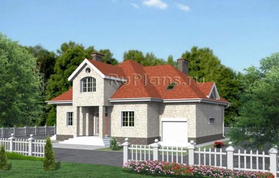 Одноэтажный дом с мансардой, гаражом и подвалом Rg3440